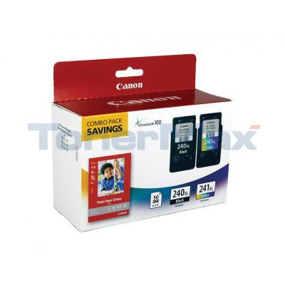 CANON PG-240XL CL-241XL INK CTG CMYK PAPER COMBO PACK